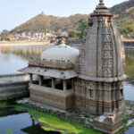 Nawal sagar and temple in bundi at rajasthan india Asia