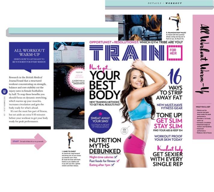 Ashley Azevedo, Train for Her Magazine