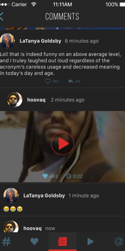 Blac(k)list Comments Frame