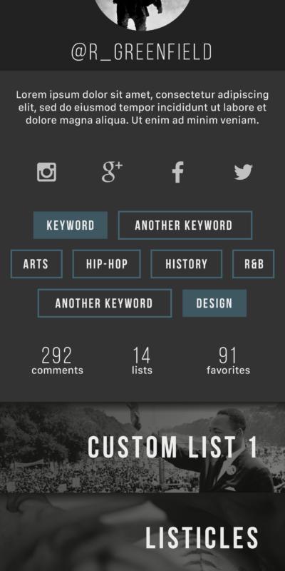 Blac(k)list Profile Frame