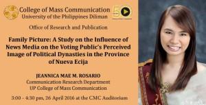 CMC Brownbag presents Ms. Jeannica Mae Rosario