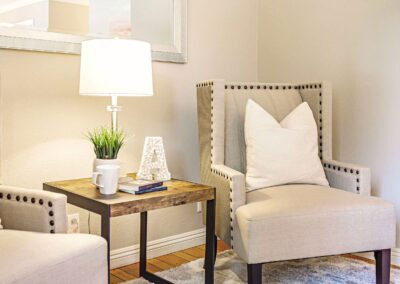 Beige chairs at staged home at 244_Montclair_Rd Los_Gatos-Details