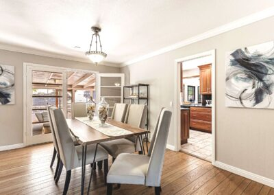 Staged home dining room at 244_Montclair_Rd Los_Gatos CA