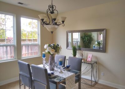 5871 Mason Place, Gilroy. Staged Dining Room.