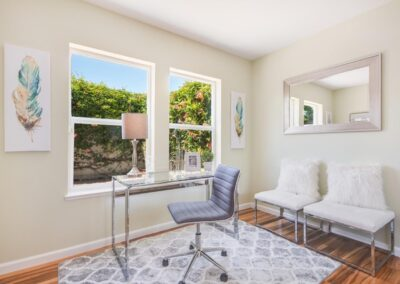 Staged home office at 617WoodsideWay-SanMateo-Office