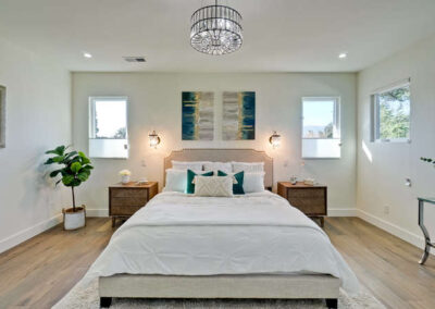 Master Bedroom View of a Staged Home at 1265 Lane Avenue Mountain View California