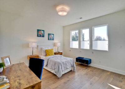 Bedroom View of a Staged Home at 1265 Lane Avenue Mountain View California