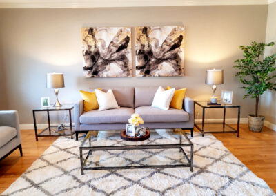 Staged Home Family Room in San Jose California