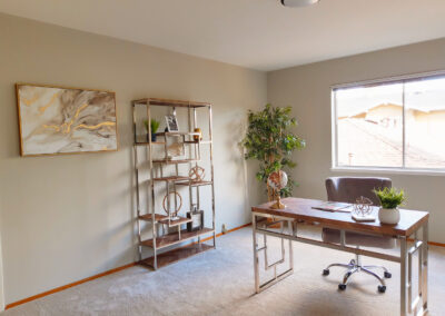 Staged Home Office in San Jose California
