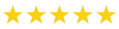 5 Gold Stars for Testimonials