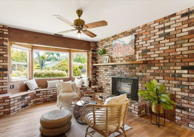 Fireplace in Sitting Area of a Staged Home at 13366 McCulloch Ave, Saratoga, CA