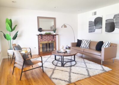 Family Room of a Staged Home at 418 Peralta Ave, Sunnyvale, CA