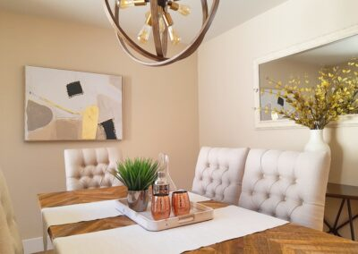 Dining Room of a Staged Home at 6045 Chesbro Avenue, San Jose, CA