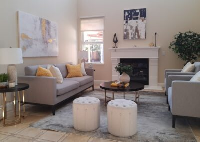 Living Room of a Staged Home at 5211 Hecker Court, San Jose, CA