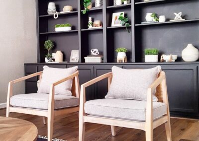 Wall Shelves with Black Build-ins in Staged Home at 1925 Josephine Avenue, San Jose, CA