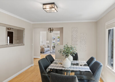 Dining Room of a Staged Home at 79 Cliffside Drive, Daly City, California
