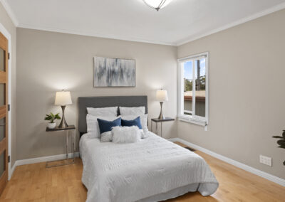 Bedroom of a Staged Home at 79 Cliffside Drive, Daly City, California