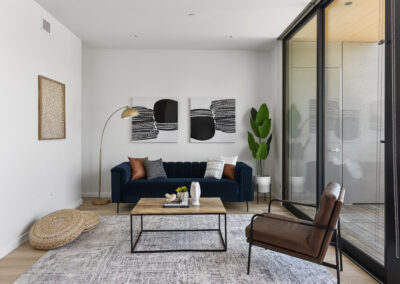 Family Room of a Staged Home at 2515 El Camino Real, Palo Alto, California