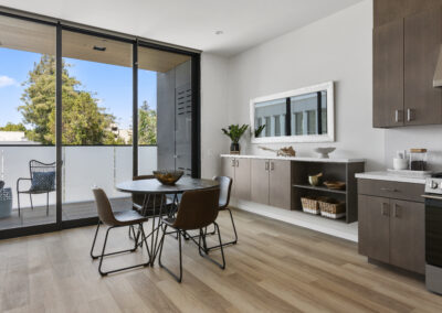 Kitchen of a Staged Home at 2515 El Camino Real, Palo Alto, California