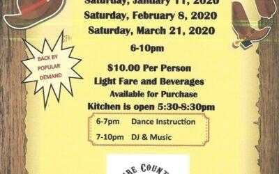 Line Dancing  Saturday, March 21, 2020