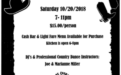 Line Dancing  Saturday, October 20, 2018 7-11PM