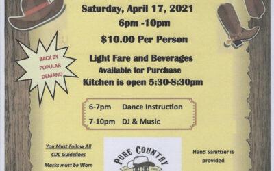 Country Line Dancing April 17, 2021