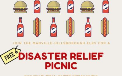 Disaster Relief Picnic September 18, 2021. Opens at 1 PM