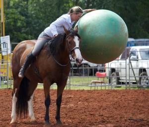 Lila and ball