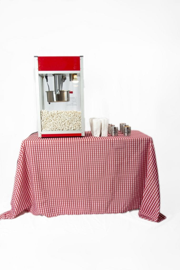 Red Sizzle Popcorn machine rental in montreal