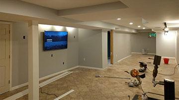 Complete basement construction / remodeling