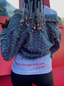 image of the back of tee shirt read love from chicaog