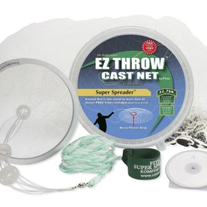10048 – EZ THROW 750 4.5′ x 3/8″ Mesh, White Nylon, Non-Lead Weights
