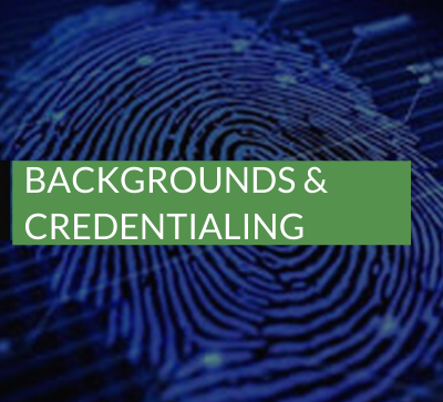 backgrounds and credentialing