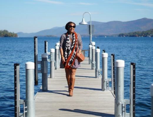 What to Wear to Lake George - Geometric Print Shift Dress