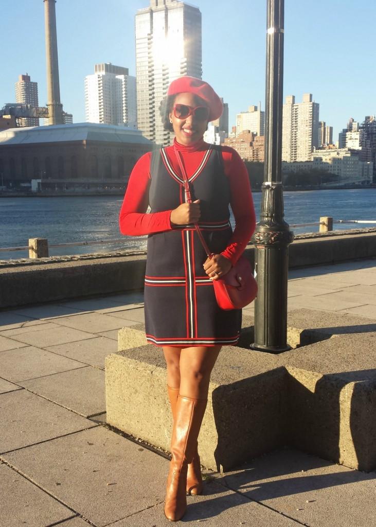 Tommy Hilfiger Dress + Red Turtleneck