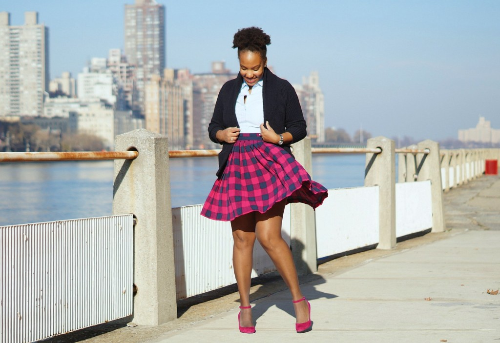 pleated-buffalo-plaid-skirt