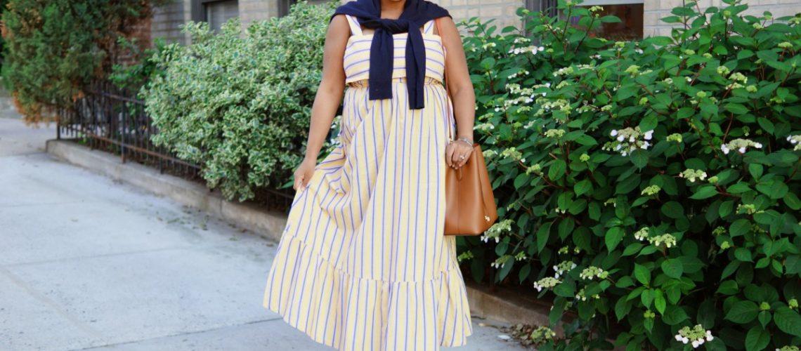 Asos Yellow Stripe Maxi Dress, nyc fashion blogger, mommy fashion, mommy blogger