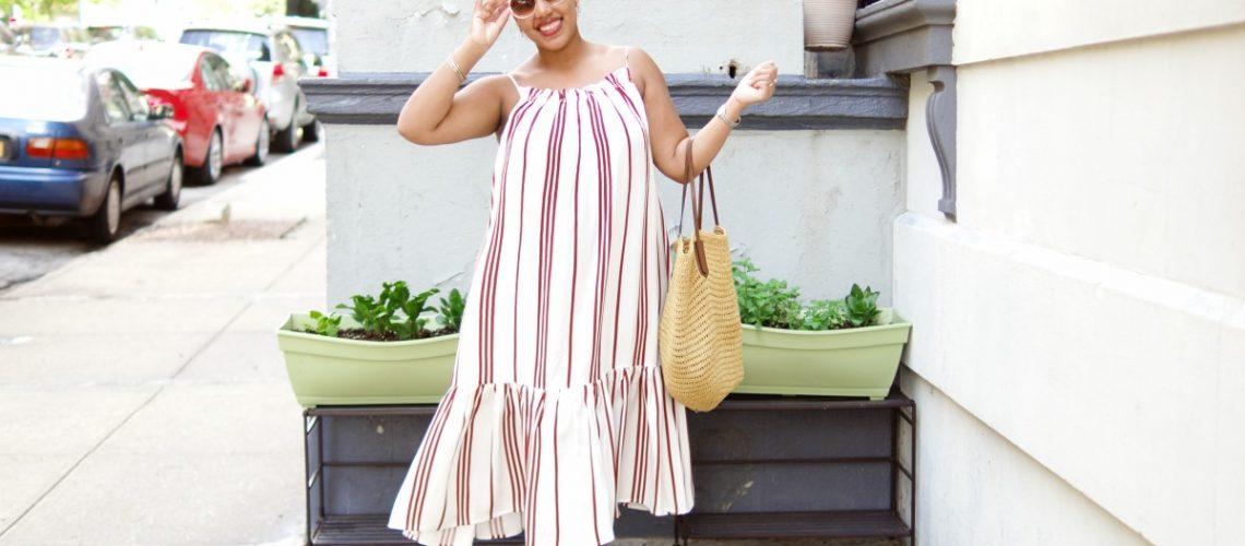 H&M Stripe Maxi Dress, nyc fashion blogger, mommy fashion, nyc mommy blogger