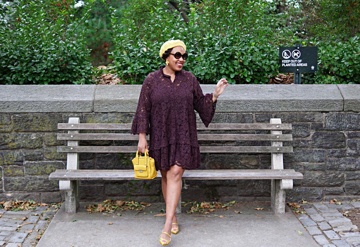 yellow beret, fall 2018 fashion