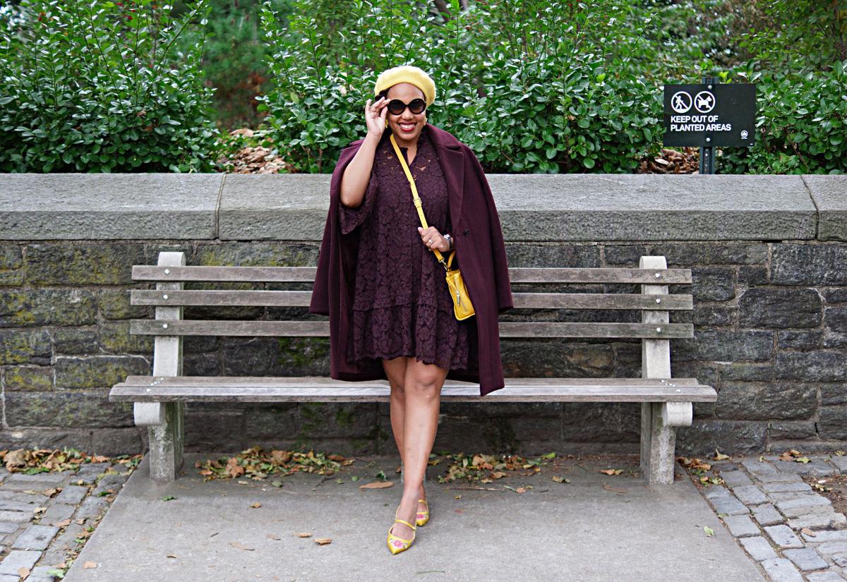 wine colored coat, fall 2018 fashion