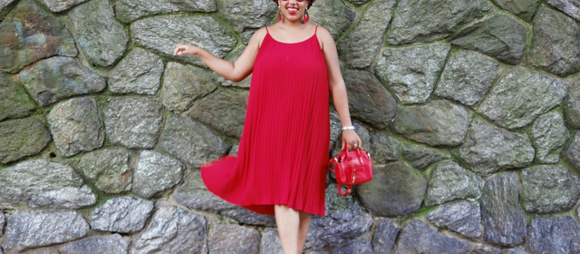 H&M Little Red Dress, NYC Fashion Blogger, Closet Confections