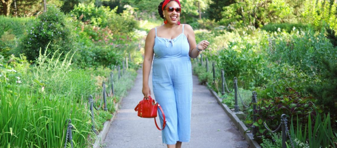 Old Navy Chambray Jumpsuit, Closet confections, NYC Fashion Blogger, NYC Mommy Blogger