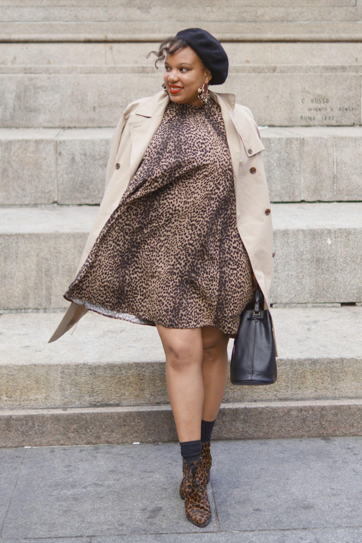 Leopard Print H&M Dress, closet confections, nyc fashion blogger