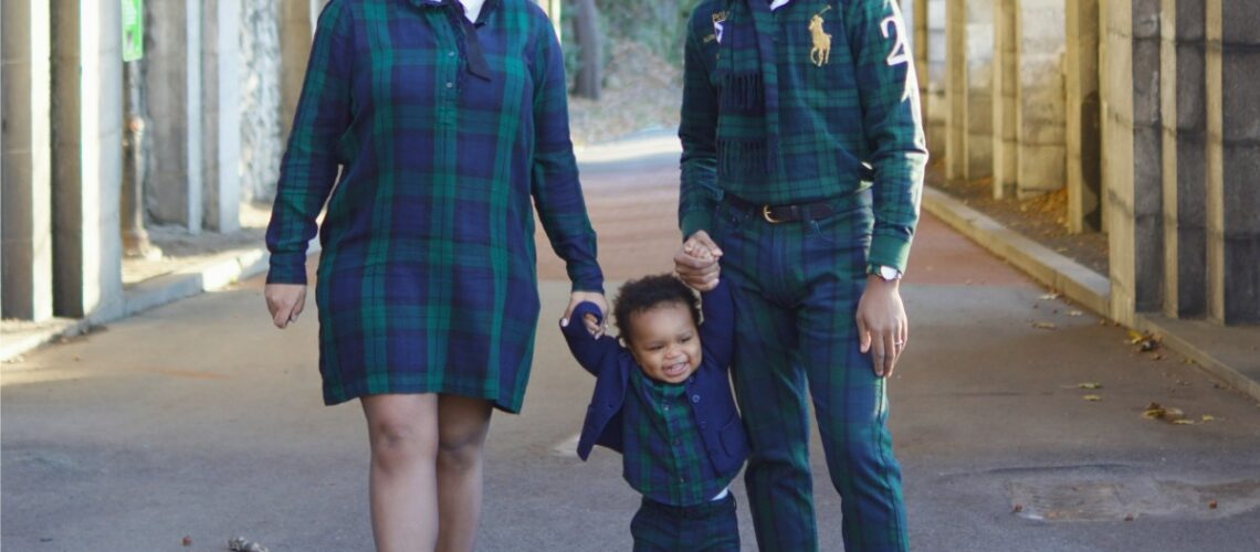 Black Watch Plaid Family Matching Outfits