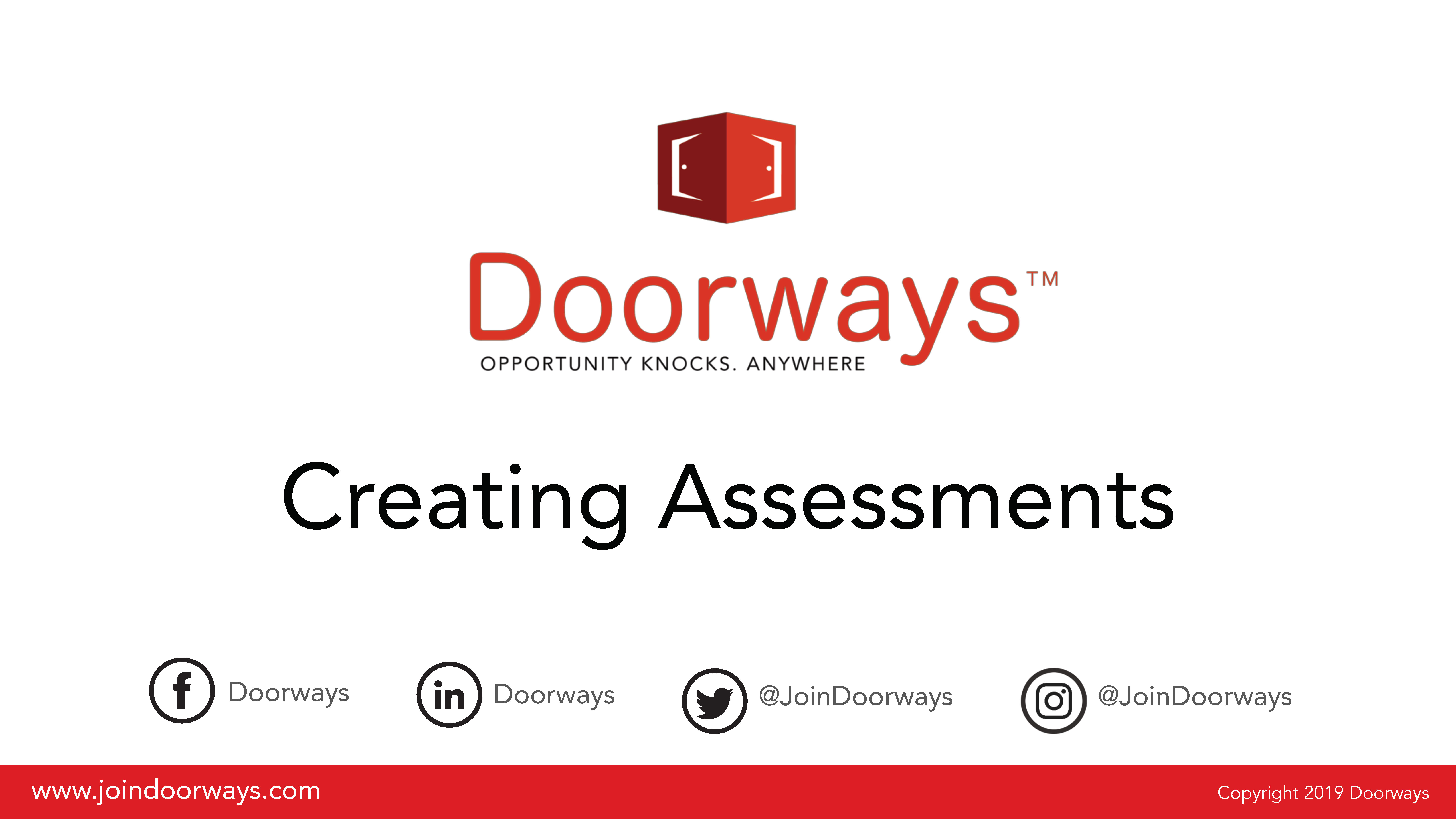 Creating Assessments