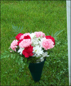 Mother's Day grave tributes