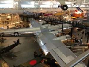 Enola Gay B29 airplane at the Smithsonian Air and Field Museum
