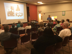 In summer 2015, I went on a 4,500 mile book tour to help promote my new book, Ain't No Harm to Kill the Devil. One of the stops on the trip, shown here, was Alliance, Ohio, where the Haines House Underground Railroad Site is located (which also plays an important part in the book!). This presentation about the book was for the Alliance Area Preservation Society, a wonderful group of individuals devoted to preserving history.