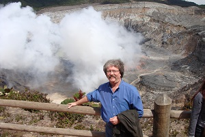 Costa Rica--book reading at volcano!