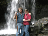 My wife Linda and me at Grotto Falls